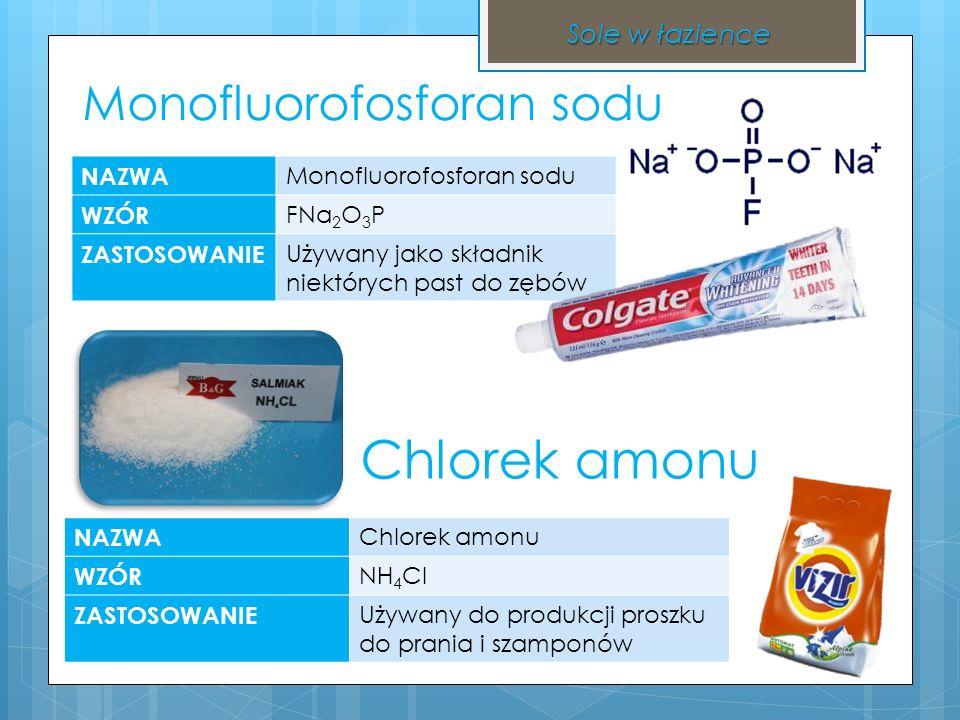 Węglan sodu NAZWA węglan sodu WZÓR Na 2 CO 3 ZASTOSOWANIE Używany jako środek wybielający w praniu i dezynfekujący.