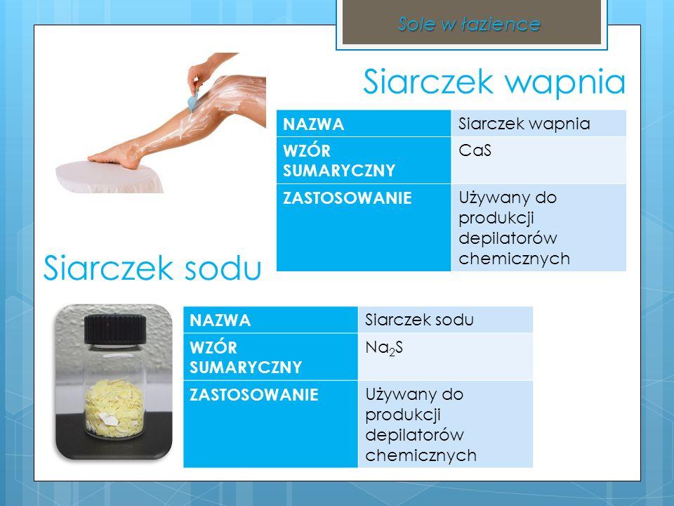 Bibliografia Informacje merytoryczne Grafika http://www.scholaris.pl/frontend,4,108110.html http://pl.wikipedia.org/wiki/Plik:Dusi%C4%8Dnan_st%C5%99 %C3%ADbrn%C3%BD.JPG http://www.bioaquatek.com/pl/weglan-sodu/275- calcium-chloride-flake.html http://archiwumallegro.com.pl/boraks+czda+czteroboran +sodu+lutowanie+mr%C3%B3wki+1kg-2351779184.html http://www.okazje.info.pl/okazja/dom-i-ogrod/tytan- wybielacz-1-l.html http://pl.wikipedia.org/wiki/Plik:Sodium_sulfide.jpg http://prostadepilacja.pl/depilacja-chemiczna/ http://fabrykaognia.pl/sklep2/70-siarka-mielona.html http://polki.pl/uroda_testy_kosmetykow_galeria.html?galg _id=10003577&ph_center_03_page_no=3 http://www.cn.all.biz/pl/heksametafosforan-sodu-g38136 http://www.chemiadodomu.pl/11-vizir-15kg-proszek-do- prania-biel.html http://www.photo-dictionary.com/phrase/3602/detergent- bottle.html http://dydaktyka.fizyka.umk.pl/zabawki1/files/termo/banki 2_big-pl.html http://www.ua.all.biz/pl/stearynian-sodu-g2063346 http://www.stylistka.pl/kosmetyki/rexona/crystal-clear- aqua-dezodorant-antyperspiracyjny-w-aerozolu/ http://www.lord- nelson.pl/lazienka/541/Queen_Anne_Mydlo.html http://www.ceneo.pl/2346061 http://nowa-stepnica.x25.pl/2012/03/03/afera-na-trujaca- sol-lista-produktow-ktorych-nie-wolno-jesc/ Sole w łazience Chemia Nowej Ery 2 http://pl.wikipedia.org/wiki/S tearynian_sodu http://pl.wikipedia.org/wiki/ Heksametafosforan_sodu http://pl.wikipedia.org/wiki/ Monofluorofosforan_sodu http://pl.wikipedia.org/wiki/ Chlorek_amonu http://wtwoimdomu.com/?z astosowanie-boraksu,51 http://pl.wikipedia.org/wiki/ Węglan_sodu http://www.sciaga.pl/tekst/4 2937-43-zastosowanie_soli