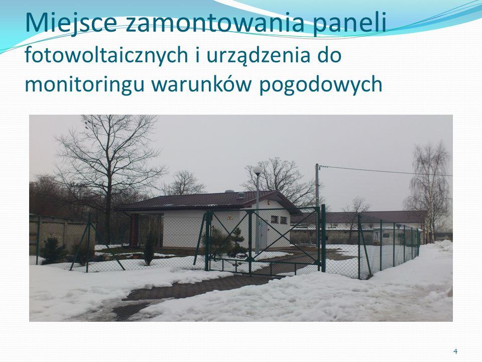 Miejsce zamontowania paneli fotowoltaicznych i urządzenia do monitoringu warunków pogodowych 4