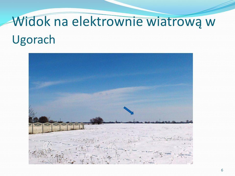 Widok na elektrownie wiatrową w Ugorach 6