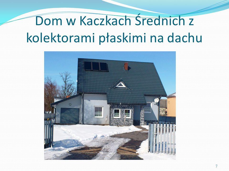 Dom w Kaczkach Średnich z kolektorami płaskimi na dachu 7
