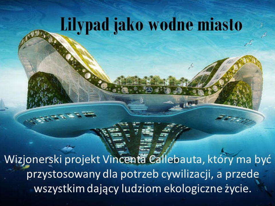 Lilypad jako wodne miasto Wizjonerski projekt Vincenta Callebauta, który ma być przystosowany dla potrzeb cywilizacji, a przede wszystkim dający ludzi