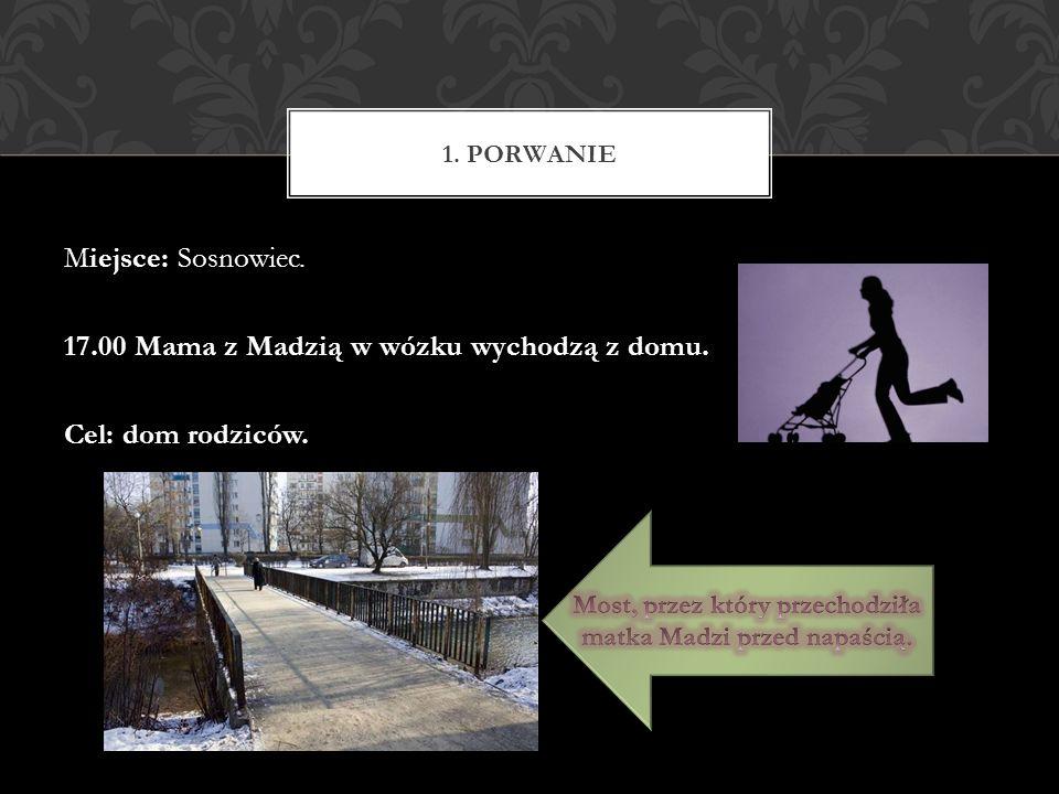 Miejsce: Sosnowiec. 17.00 Mama z Madzią w wózku wychodzą z domu. Cel: dom rodziców. 1. PORWANIE