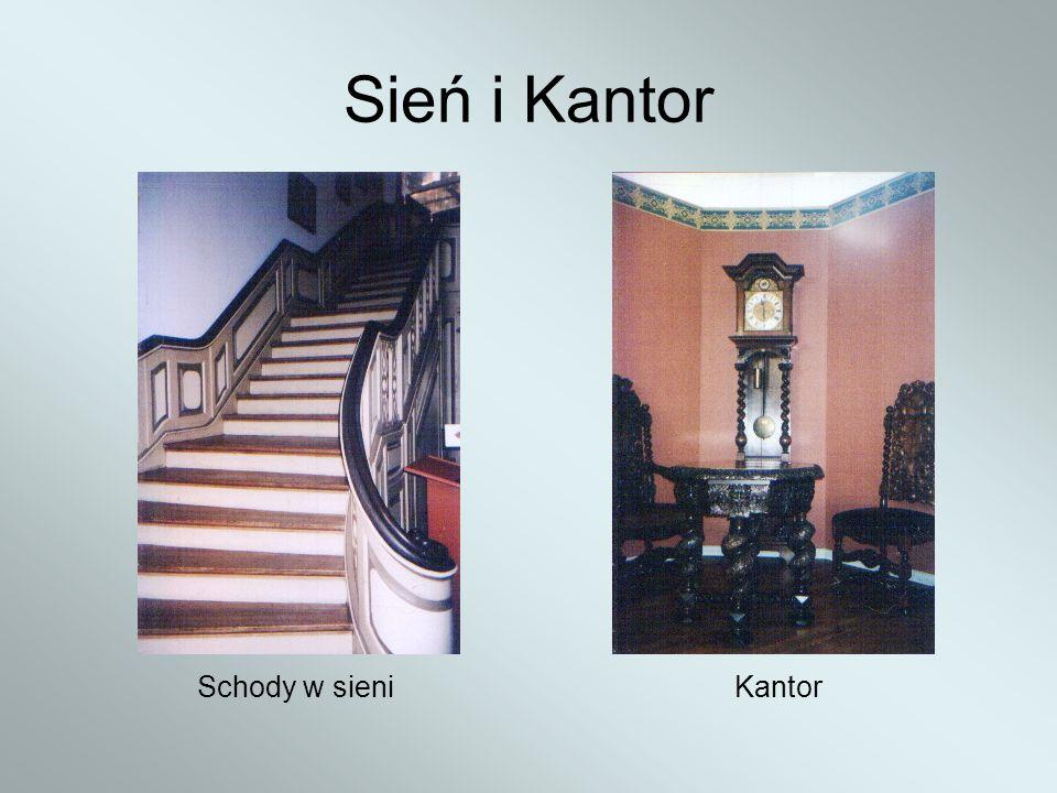 Sień i Kantor Schody w sieniKantor