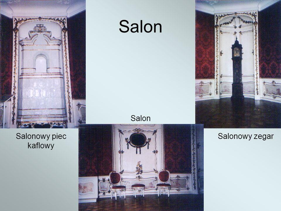 Salon Salonowy piec kaflowy Salon Salonowy zegar