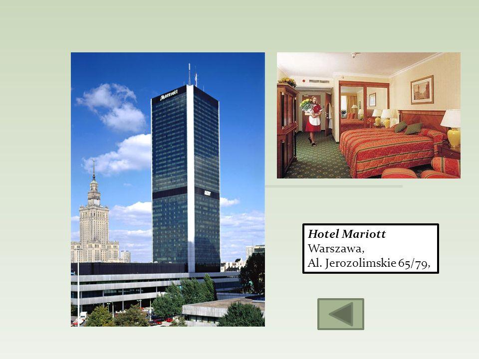 Hotel Mariott Warszawa, Al. Jerozolimskie 65/79,
