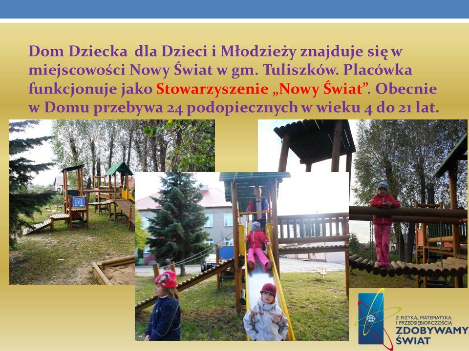 Dom Dziecka dla Dzieci i Młodzieży znajduje się w miejscowości Nowy Świat w gm. Tuliszków. Placówka funkcjonuje jako Stowarzyszenie Nowy Świat. Obecni
