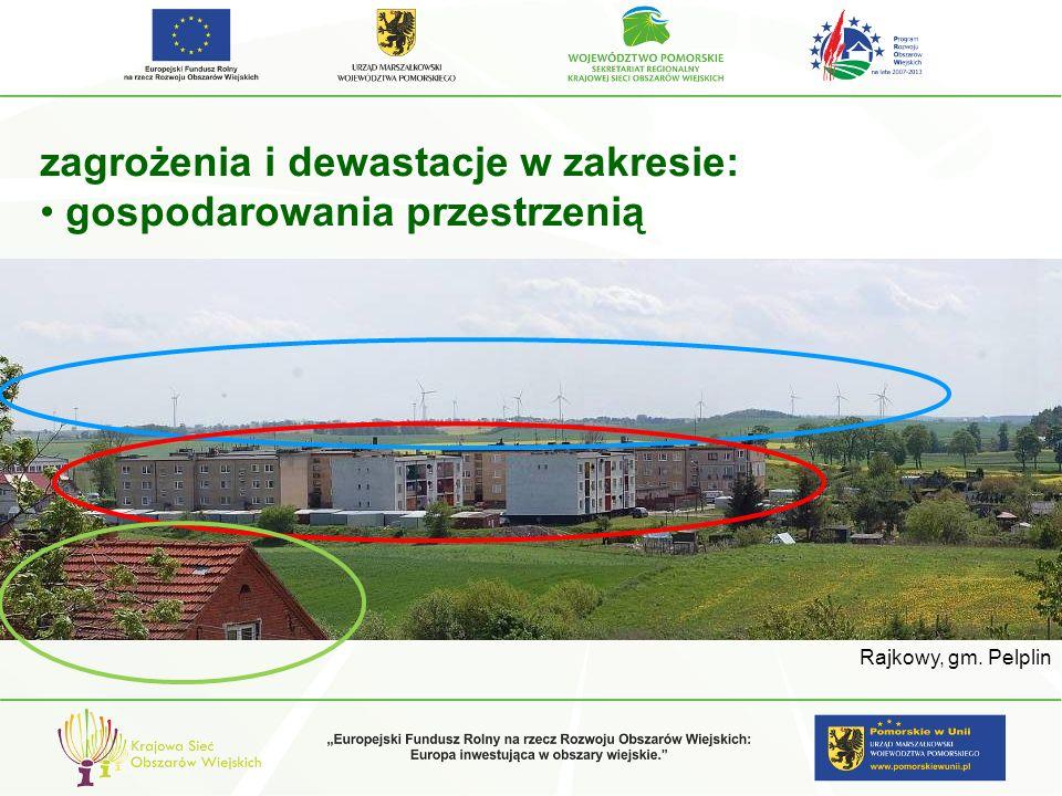 zagrożenia i dewastacje w zakresie: gospodarowania przestrzenią Rajkowy, gm. Pelplin