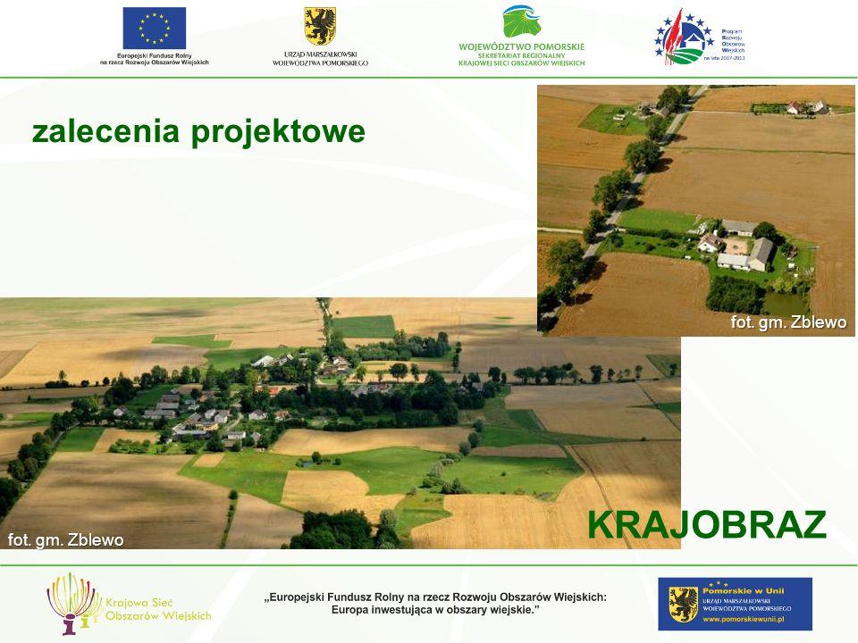 zalecenia projektowe KRAJOBRAZ fot. gm. Zblewo