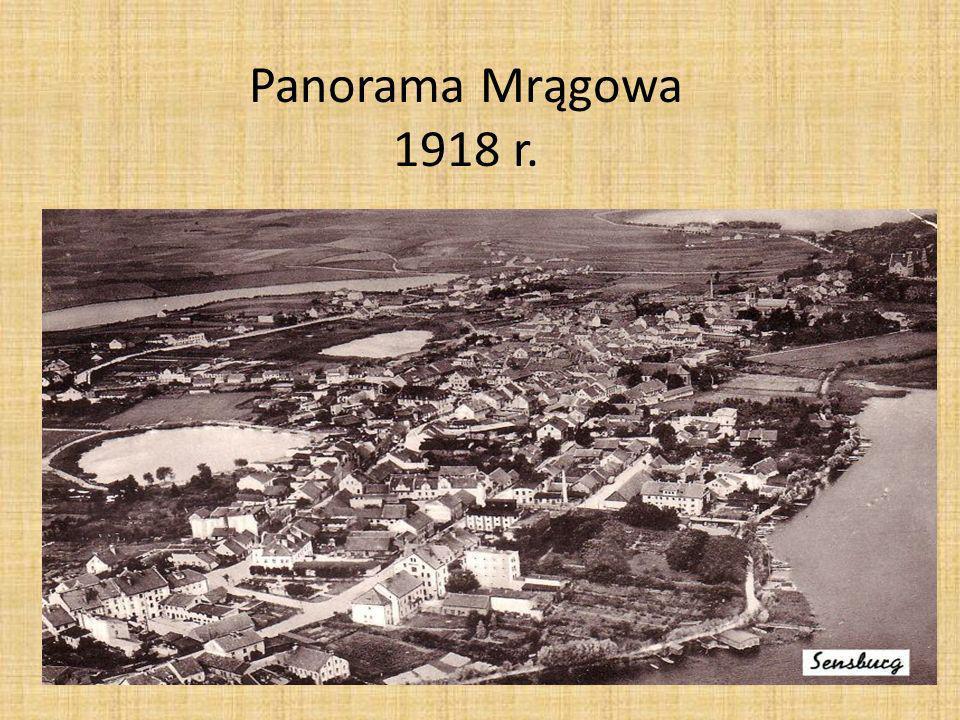 Panorama Mrągowa 1918 r.