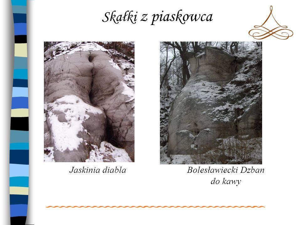 Skałki z piaskowca Jaskinia diablaBolesławiecki Dzban do kawy