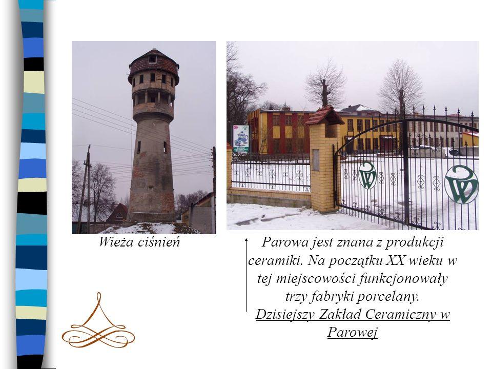 Wieża ciśnieńParowa jest znana z produkcji ceramiki. Na początku XX wieku w tej miejscowości funkcjonowały trzy fabryki porcelany. Dzisiejszy Zakład C