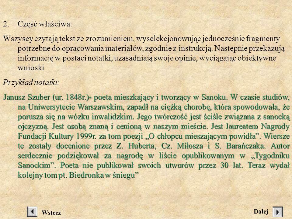 Grupa III: Tygodnik Sanocki, 5 lutego 1999, s.9, artykuł pt.