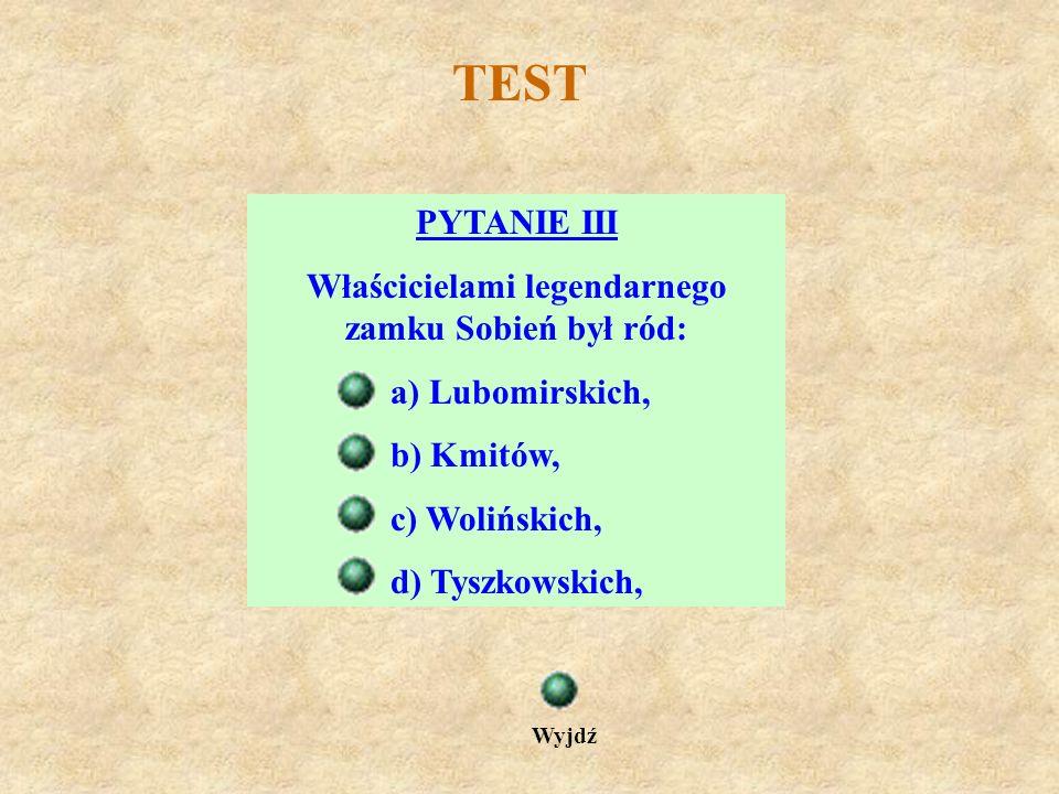TEST PYTANIE II Który z władców państwa polskiego brał ślub w Sanoku? a) Bolesław Chrobry b) Kazimierz Wielki c) Władysław Jagiełło d) Zygmunt August