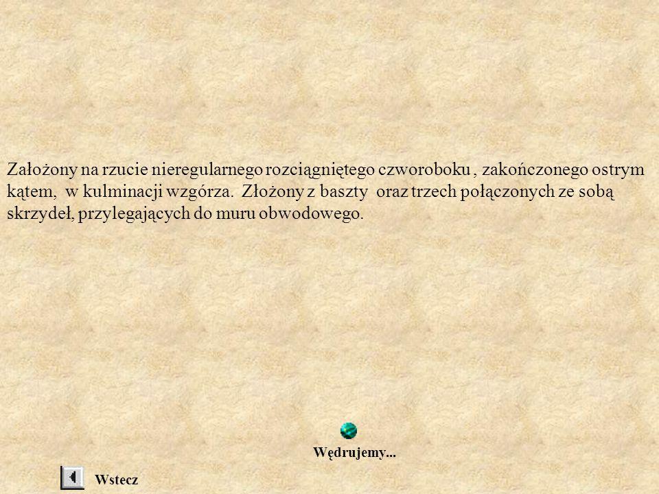 RUINY ZAMKU SOBIEŃ Pierwotnie gród należący do Węgier, założony w.