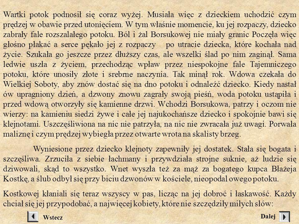 Dawno temu, na samym skraju lasu mieszkała uboga wdowa Anielka Borsukowa.