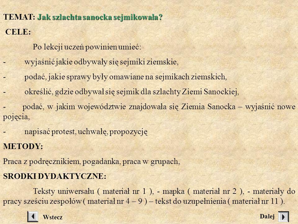 Materiał nr 4 Korzystając z tekstu podręcznika oraz tekstu źródłowego, napisz jakie korzyści z lokacji na prawie magdeburskim miał: KsiążęWójt lub sołtysPozostali mieszkańcy Sugestie...