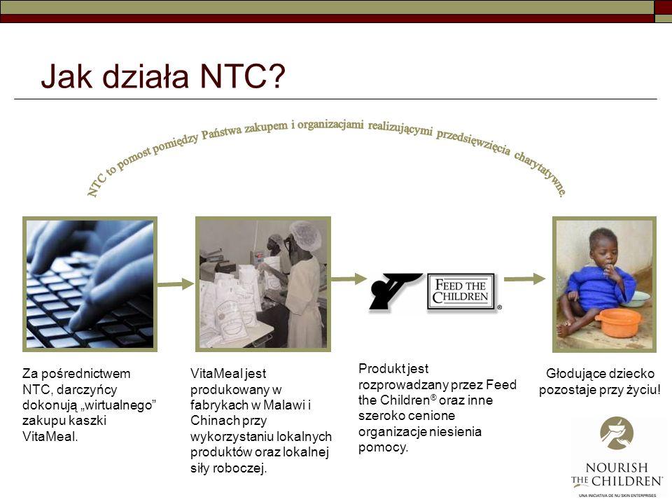 Jak działa NTC.Za pośrednictwem NTC, darczyńcy dokonują wirtualnego zakupu kaszki VitaMeal.