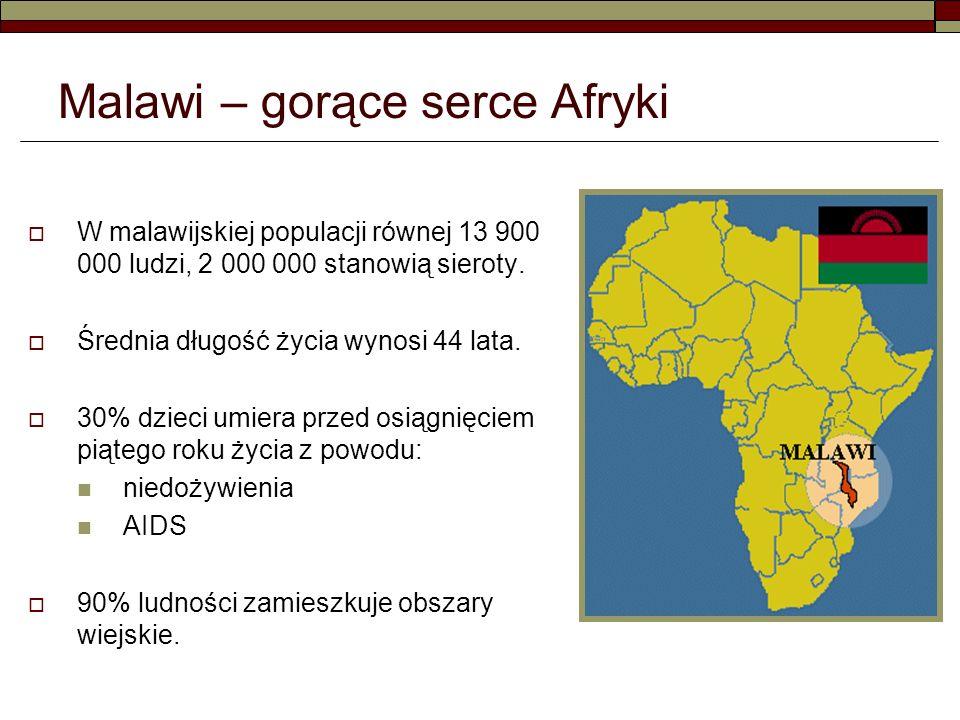 W malawijskiej populacji równej 13 900 000 ludzi, 2 000 000 stanowią sieroty.