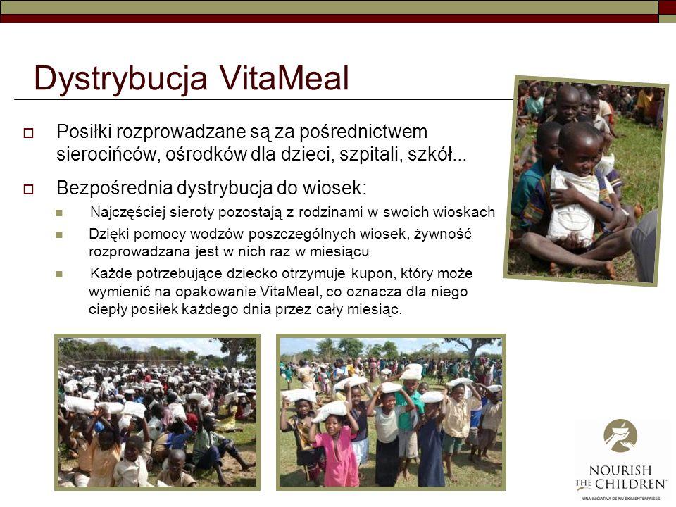 Dystrybucja VitaMeal Posiłki rozprowadzane są za pośrednictwem sierocińców, ośrodków dla dzieci, szpitali, szkół...