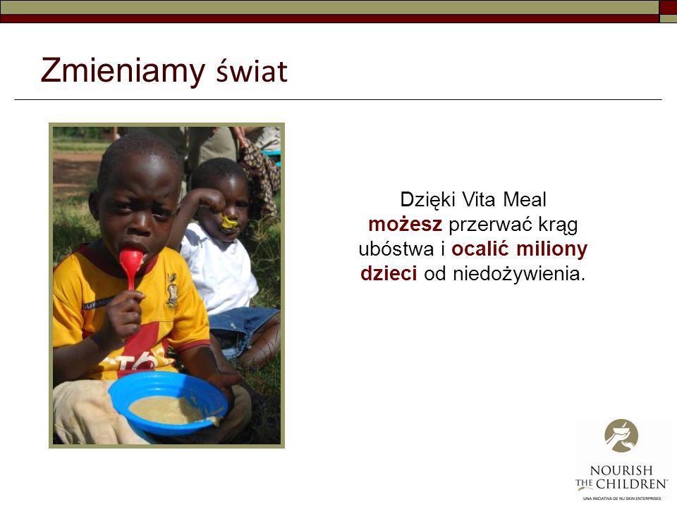 Zmieniamy świat Dzięki Vita Meal możesz przerwać krąg ubóstwa i ocalić miliony dzieci od niedożywienia.
