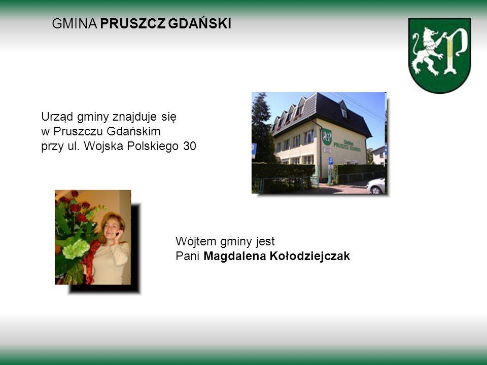 GMINA PRUSZCZ GDAŃSKI Borkowo 2011 Urząd gminy znajduje się w Pruszczu Gdańskim przy ul. Wojska Polskiego 30 Wójtem gminy jest Pani Magdalena Kołodzie