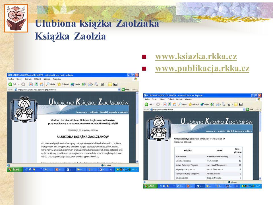 Ulubiona książka Zaolziaka Książka Zaolzia www.ksiazka.rkka.cz www.publikacja.rkka.cz