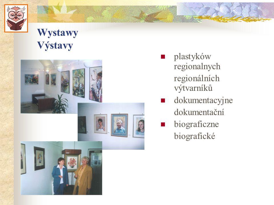 Wystawy Výstavy plastyków regionalnych regionálních výtvarníků dokumentacyjne dokumentační biograficzne biografické