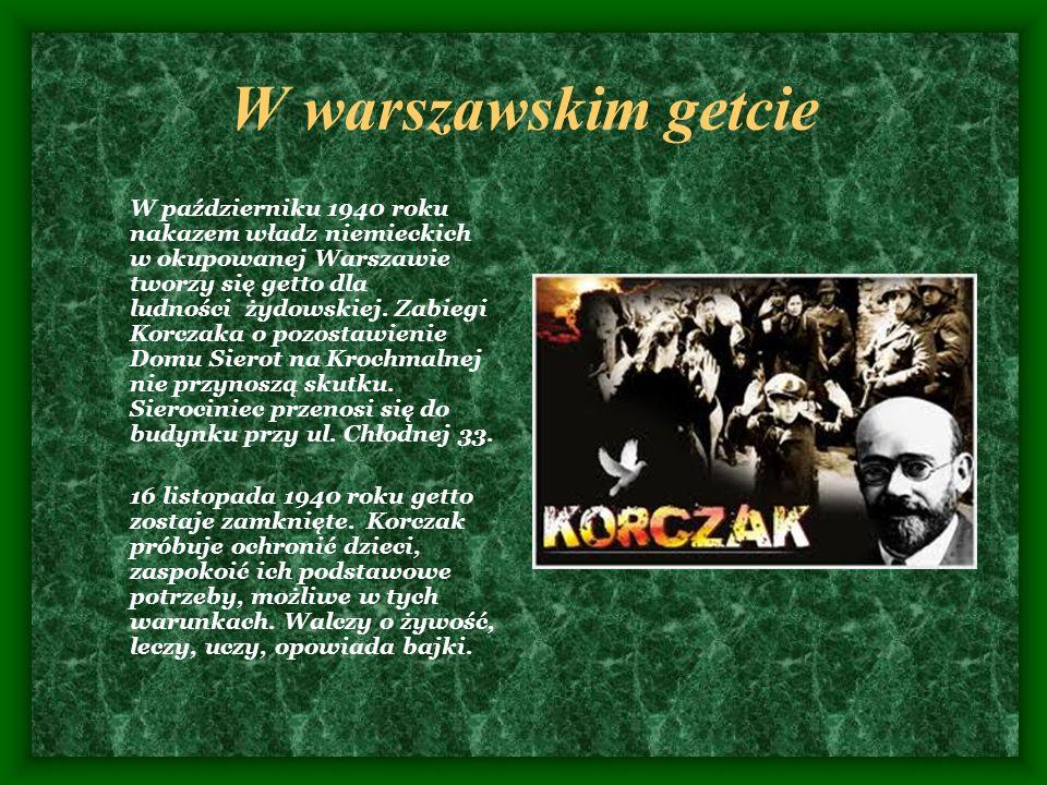 W warszawskim getcie W październiku 1940 roku nakazem władz niemieckich w okupowanej Warszawie tworzy się getto dla ludności żydowskiej. Zabiegi Korcz