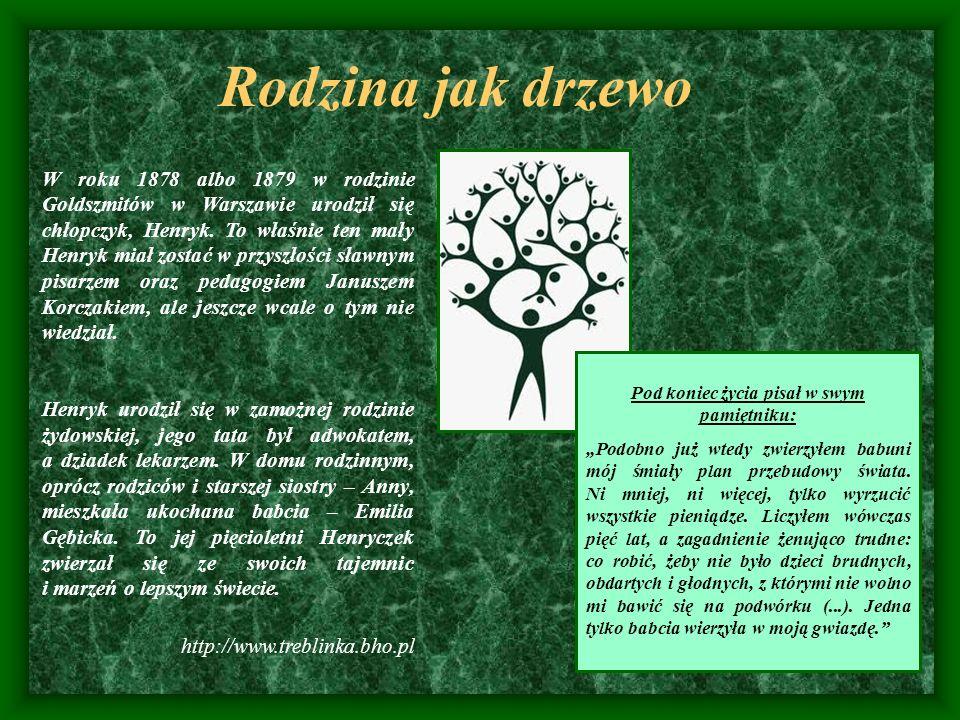 Rodzina jak drzewo W roku 1878 albo 1879 w rodzinie Goldszmitów w Warszawie urodził się chłopczyk, Henryk. To właśnie ten mały Henryk miał zostać w pr
