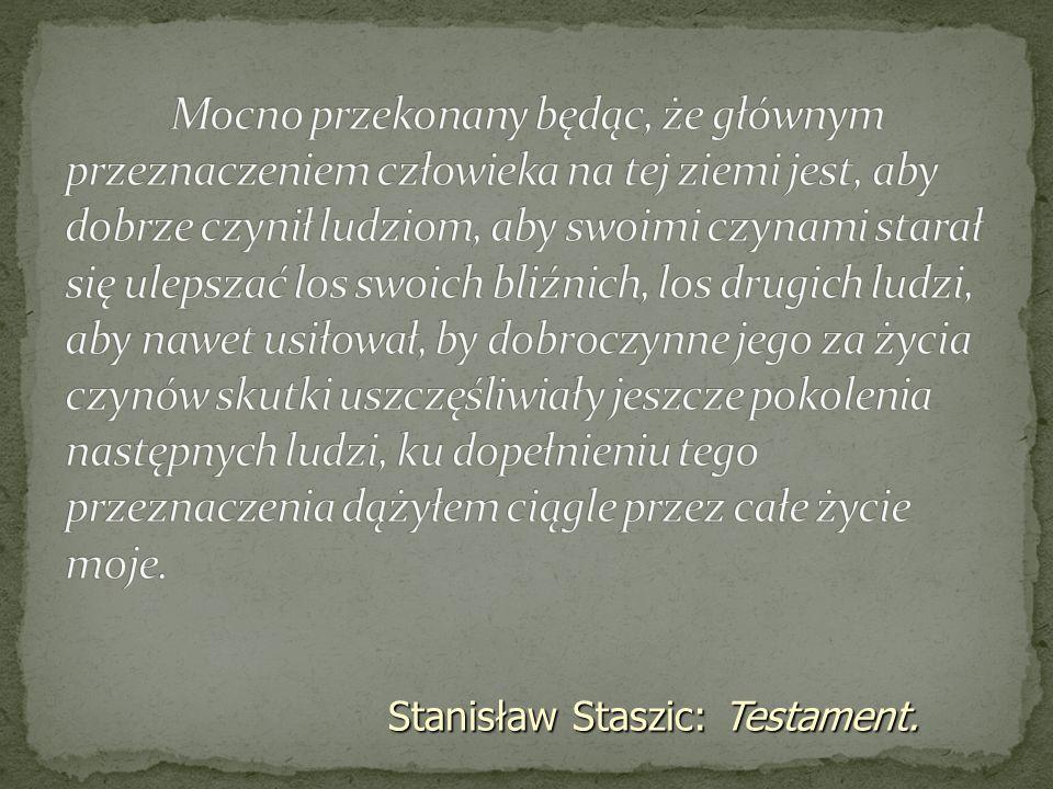 Stanisław Staszic: Testament.
