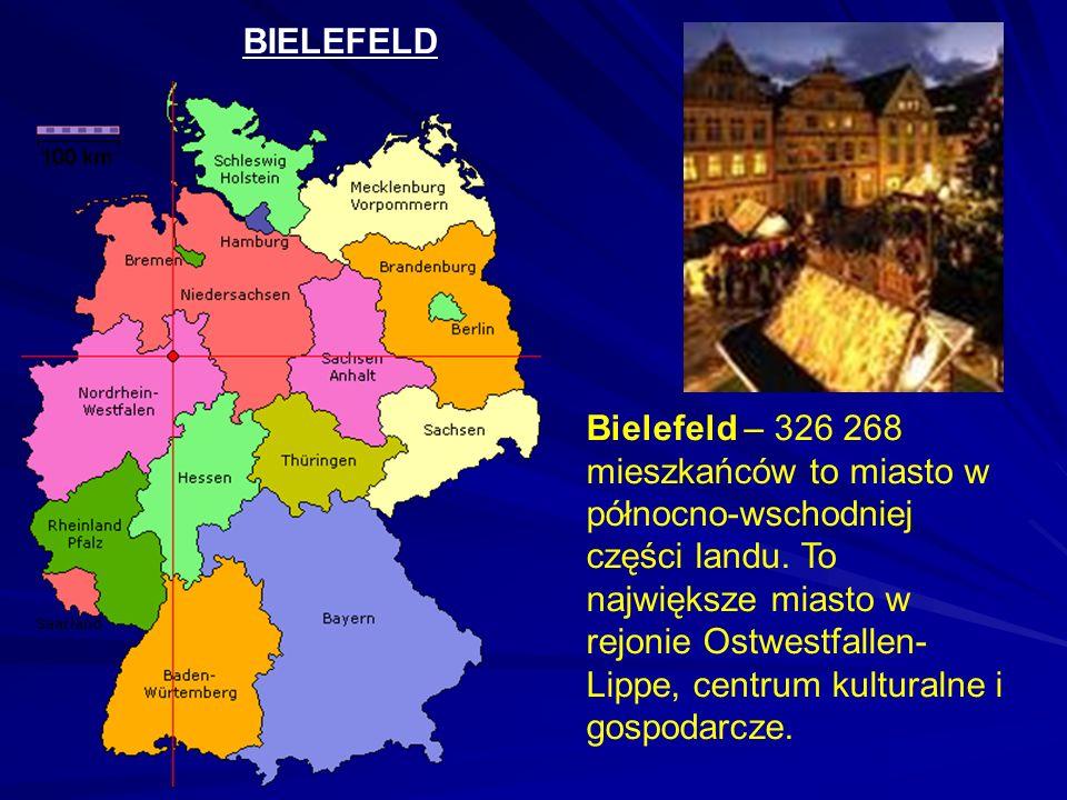 BIELEFELD Bielefeld – 326 268 mieszkańców to miasto w północno-wschodniej części landu.