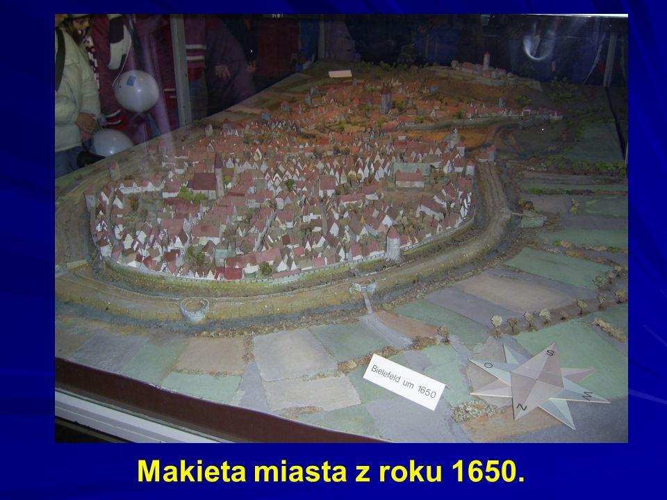 Makieta miasta z roku 1650.