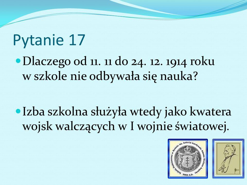 Pytanie 16 Kto uczył religii bezpośrednio po śmierci ks.