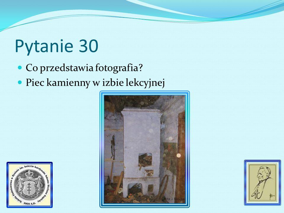 Pytanie 29 Na jakie cele przeznaczono dochód z wieczorku z okazji 125 rocznicy powstania kościuszkowskiego.