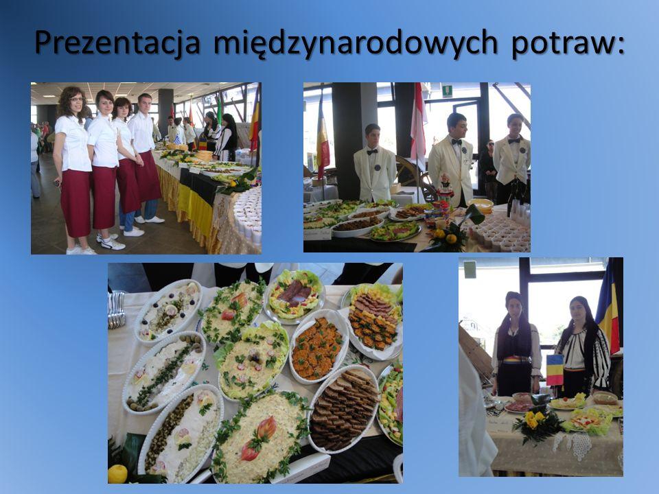 Prezentacja międzynarodowych potraw: