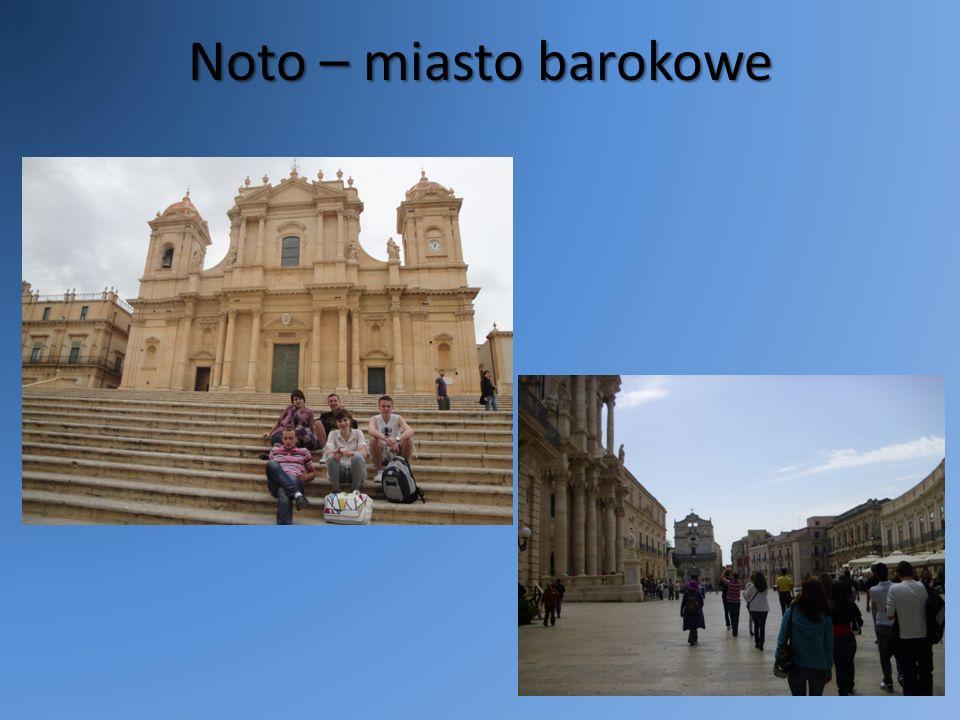 Noto – miasto barokowe