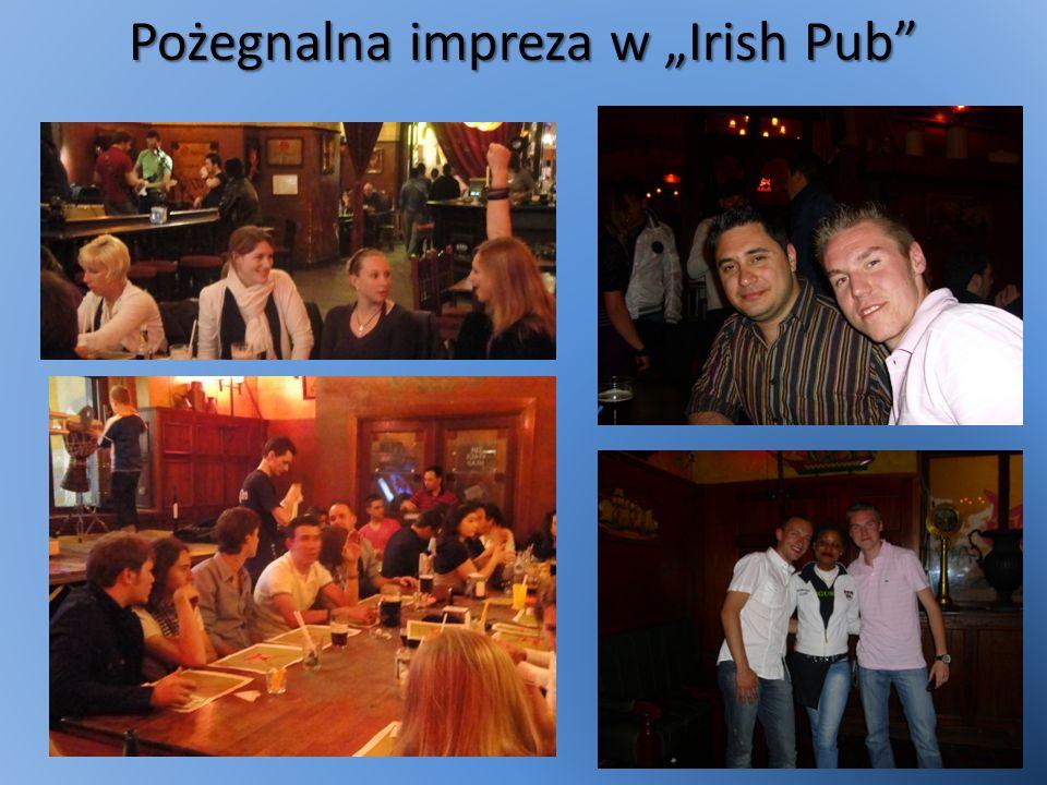 Pożegnalna impreza w Irish Pub
