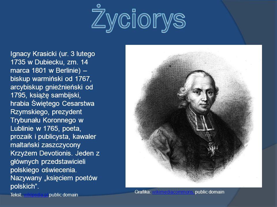 Ignacy Krasicki (ur.3 lutego 1735 w Dubiecku, zm.