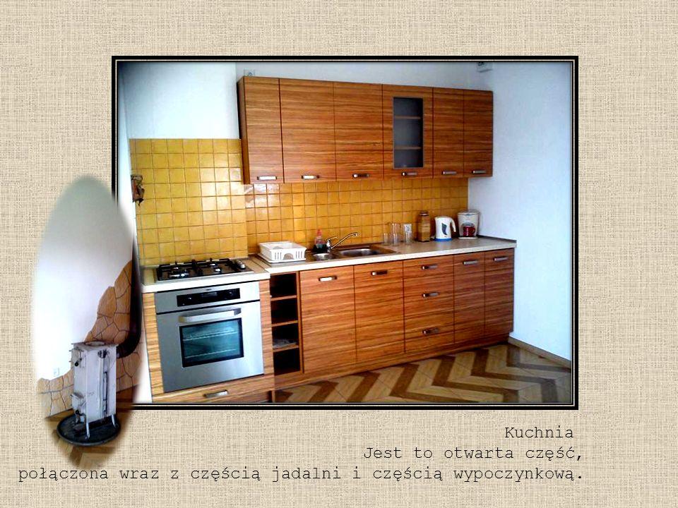 Kuchnia Jest to otwarta część, połączona wraz z częścią jadalni i częścią wypoczynkową.