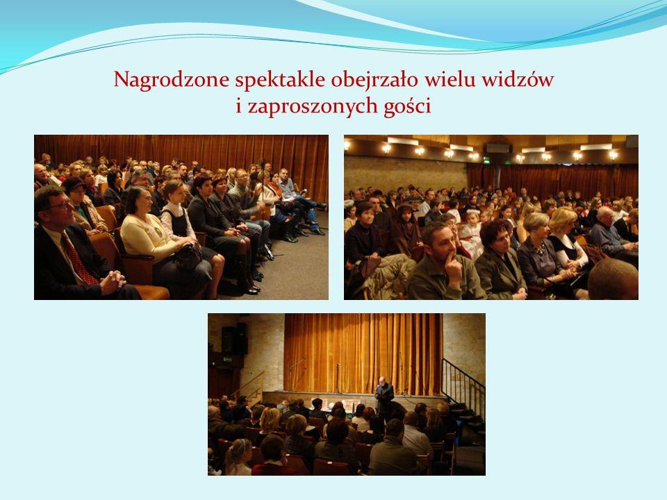 Nagrodzone spektakle obejrzało wielu widzów i zaproszonych gości