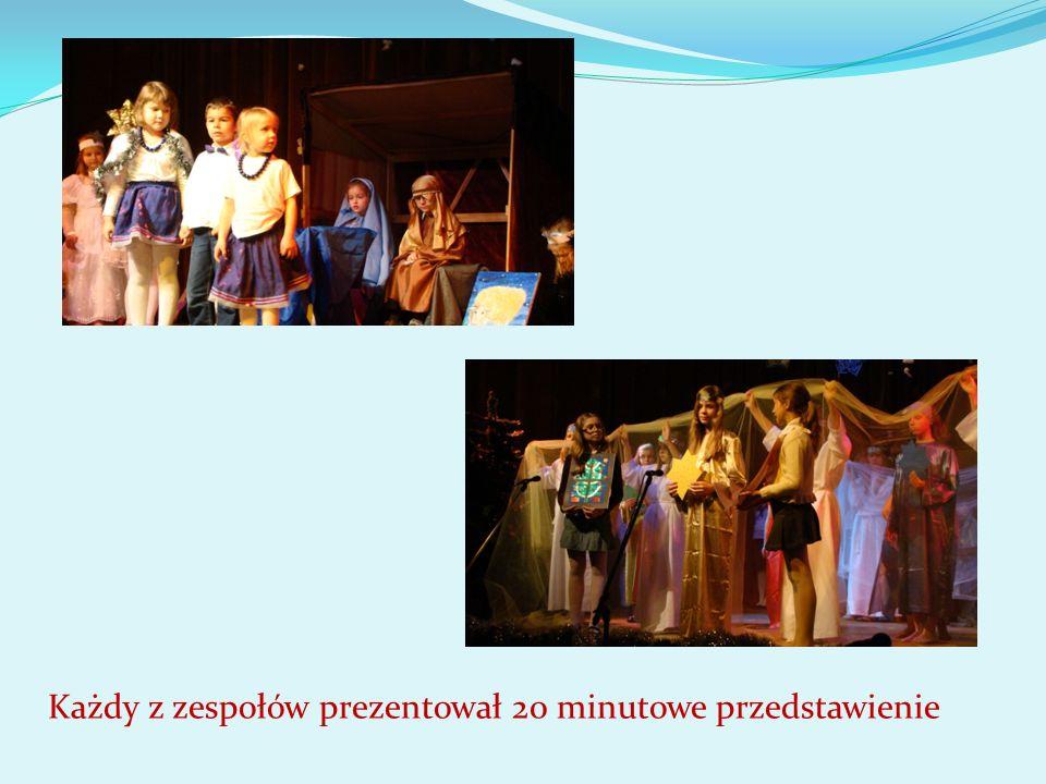 Każdy z zespołów prezentował 20 minutowe przedstawienie