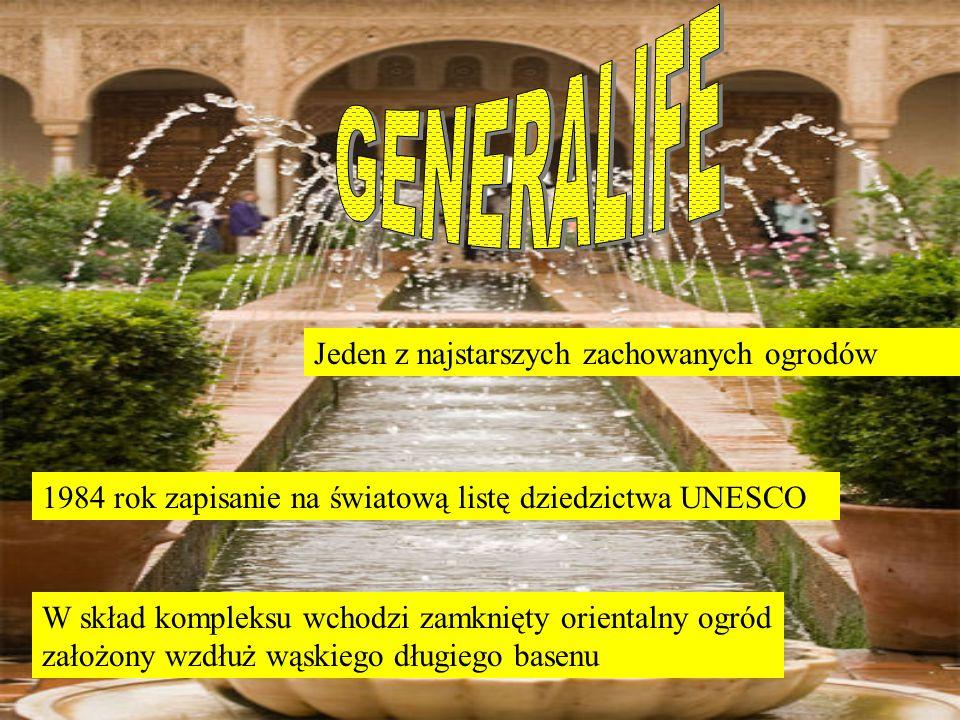 Jeden z najstarszych zachowanych ogrodów 1984 rok zapisanie na światową listę dziedzictwa UNESCO W skład kompleksu wchodzi zamknięty orientalny ogród założony wzdłuż wąskiego długiego basenu