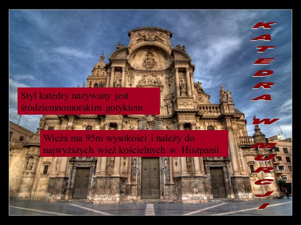 Styl katedry nazywany jest śródziemnomorskim gotykiem Wieża ma 95m wysokości i należy do najwyższych wież kościelnych w Hiszpanii