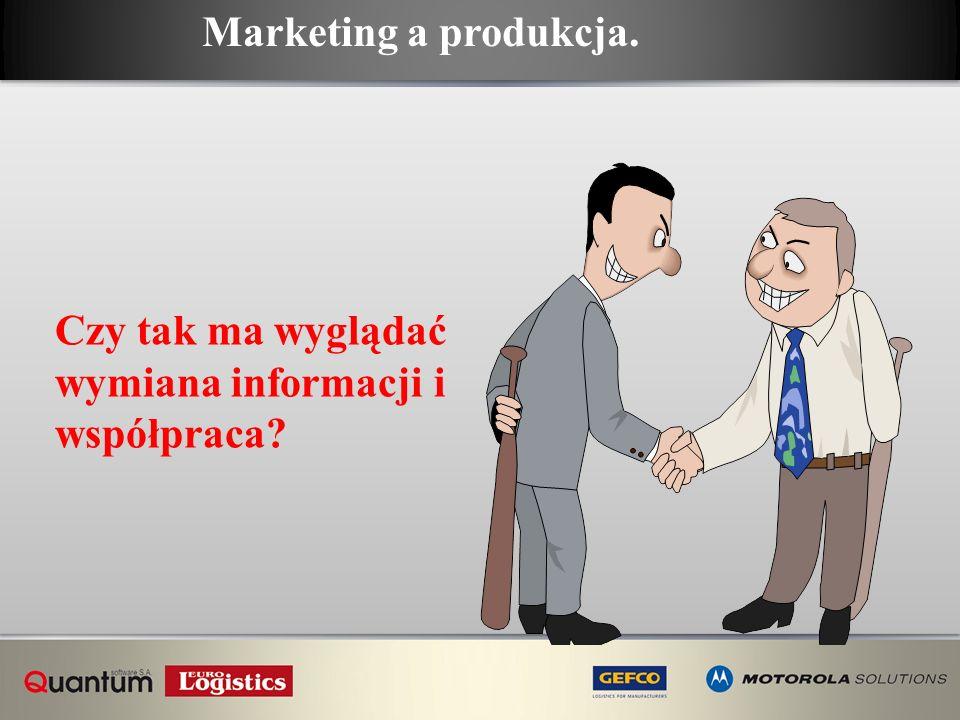 Czy tak ma wyglądać wymiana informacji i współpraca? Marketing a produkcja.