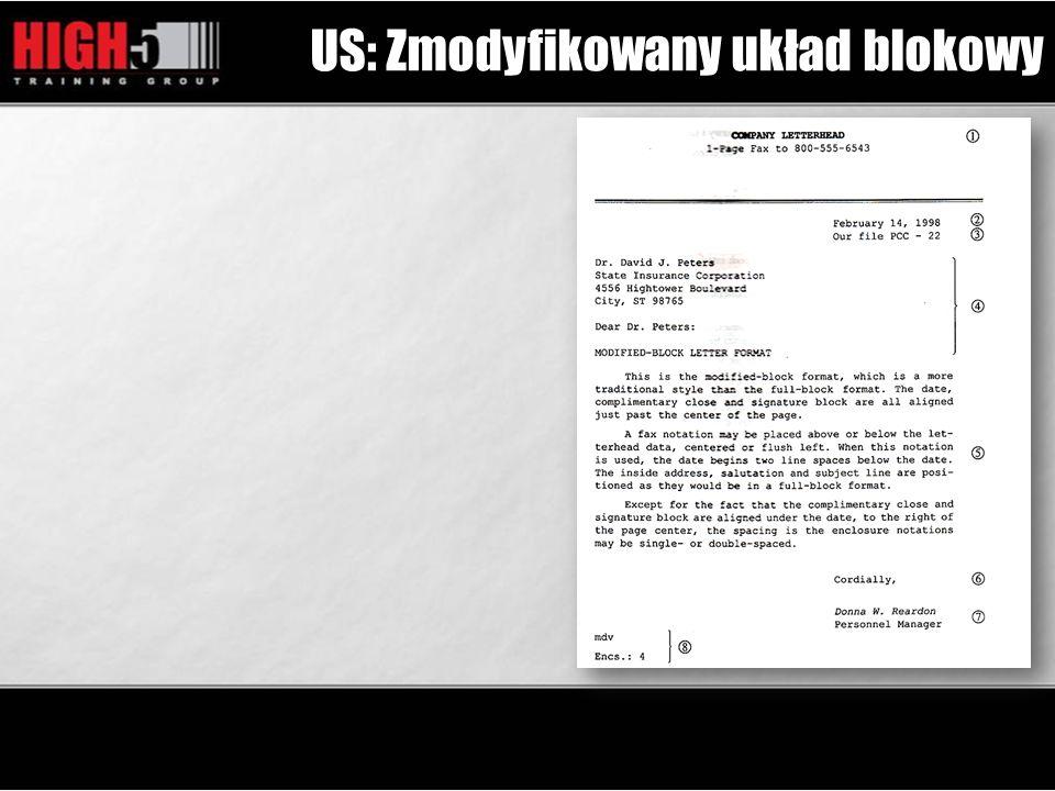US: Zmodyfikowany układ blokowy