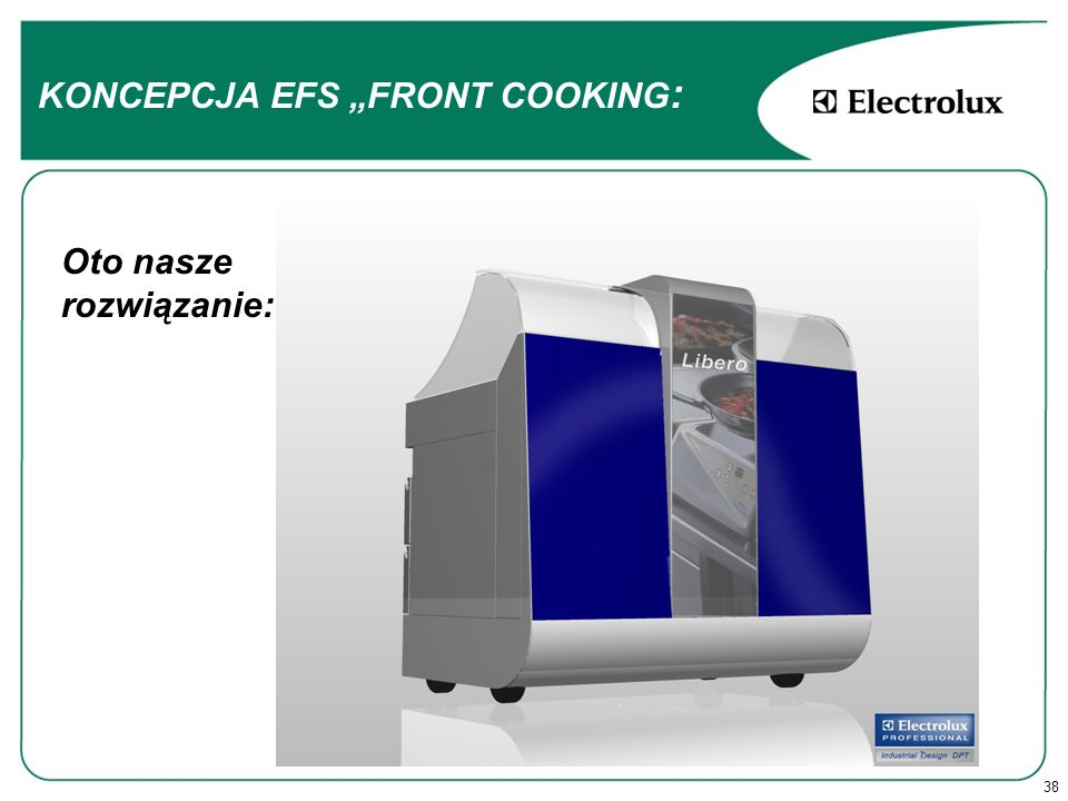 38 Oto nasze rozwiązanie: KONCEPCJA EFS FRONT COOKING :