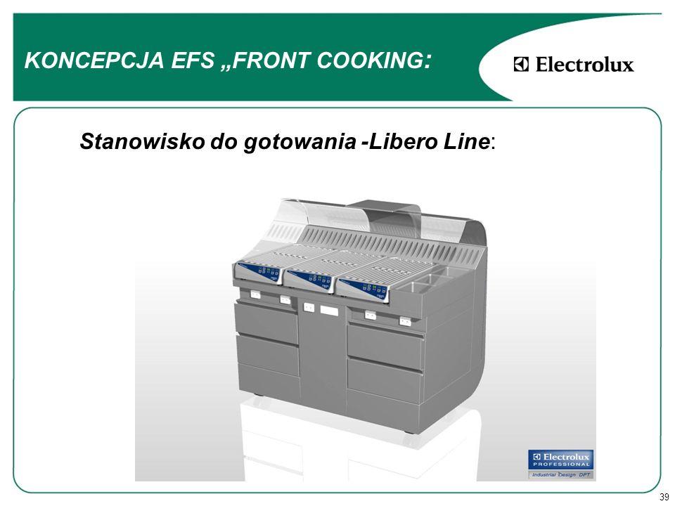 39 Stanowisko do gotowania -Libero Line: KONCEPCJA EFS FRONT COOKING :