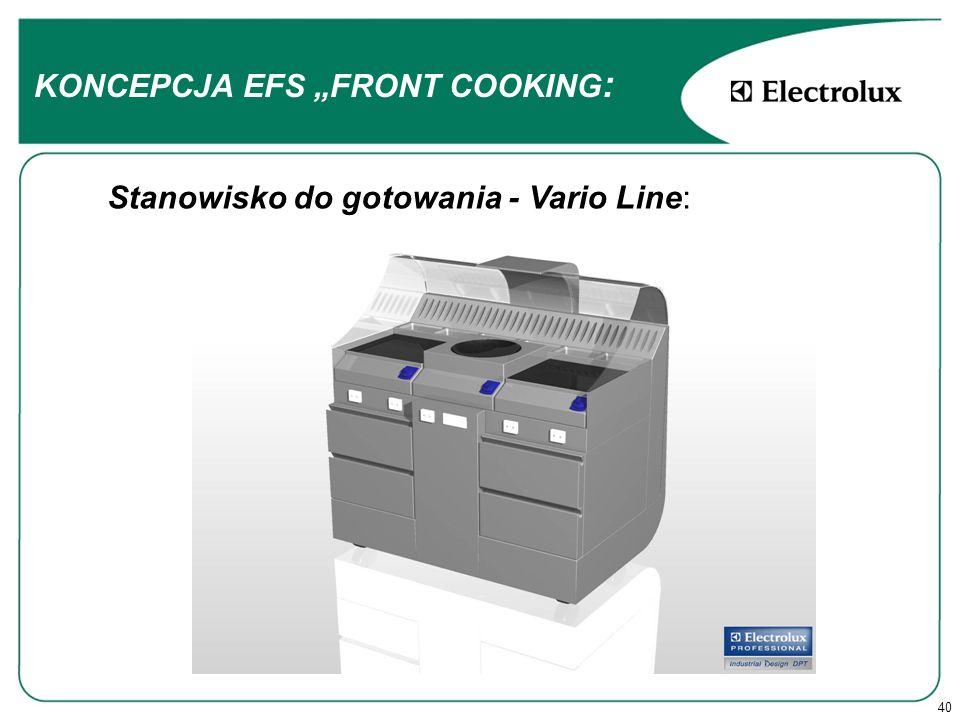 40 Stanowisko do gotowania - Vario Line: KONCEPCJA EFS FRONT COOKING :