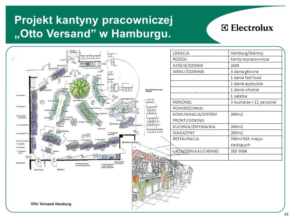 44 Projekt kantyny pracowniczej Otto Versand w Hamburgu.